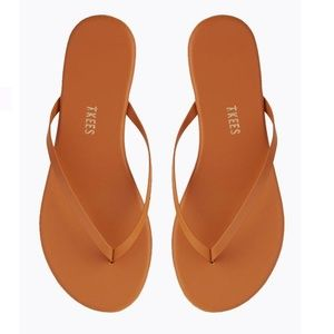 TKEES Orange Flip Flops Sandals Size 8 9 10